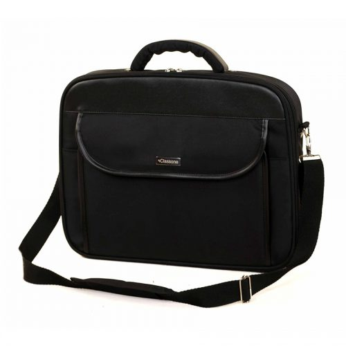 Classone G16001L Guard Serisi Kasnaklı 15,6 inç Uyumlu Laptop Notebook El Çantası - Siyah/Gri