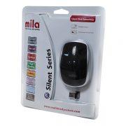 Mıla ML402 Silent Serisi Kablosuz USB Nano Alıcılı Optik Mouse- Siyah