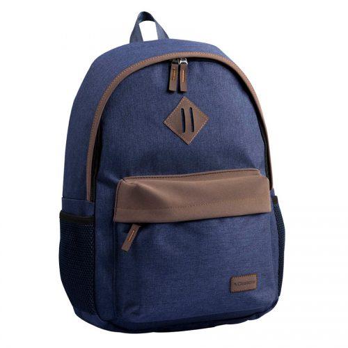 Classone BP-V161LK Verona L Serisi 15,6 inç Uyumlu Laptop Notebook Sırt Çantası- Lacivert - Kahverengi