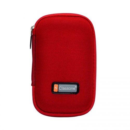 Classone HD2001 2,5 inç Uyumlu Hard Disk Taşıma Çantası - Kırmızı