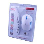 Mila ML371 Kablosuz USB Nano Alıcılı Optik Mouse -Beyaz / Mavi