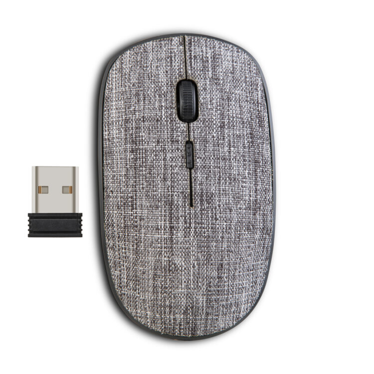 CLASSONE FABRIC 2.4 GHZ WIRELESS MOUSE - GRAY