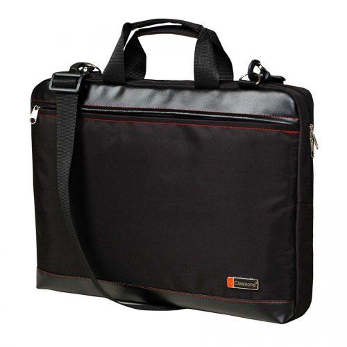 Classone TL1560 Top Loading Large Serisi 15,6 inç Uyumlu Laptop Notebook El Çantası -Siyah