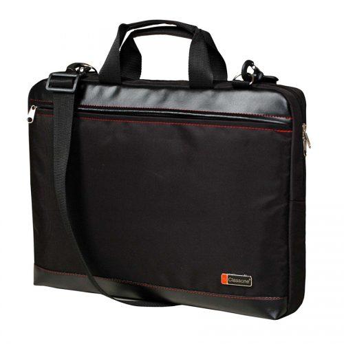 Classone TL1700 Top Loading X Large Serisi 17 inç Uyumlu Laptop Notebook El Çantası -Siyah