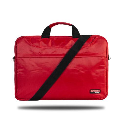 Classone TL2562 Top Loading Large Serisi 15,6 inç Uyumlu Laptop Notebook El Çantası- Kırmızı