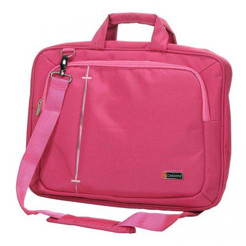 Classone UL166 Ultrabook Large Serisi 15,6 inç Uyumlu Laptop Notebook El Çantası Pembe