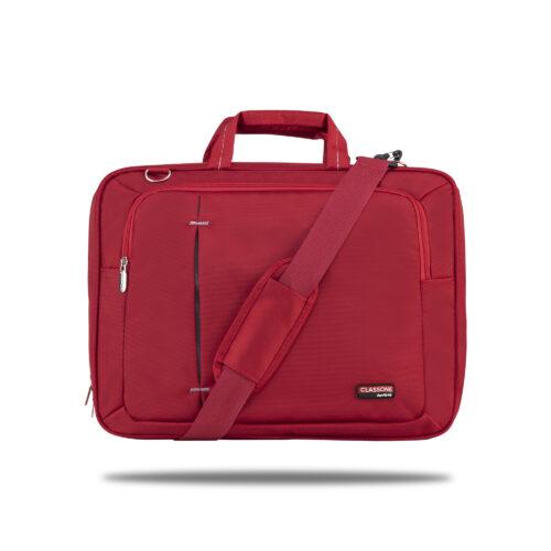 Classone UL162 Ultrabook Serisi Large 15,6 inç Uyumlu Laptop Notebook El Çantası Kırmızı