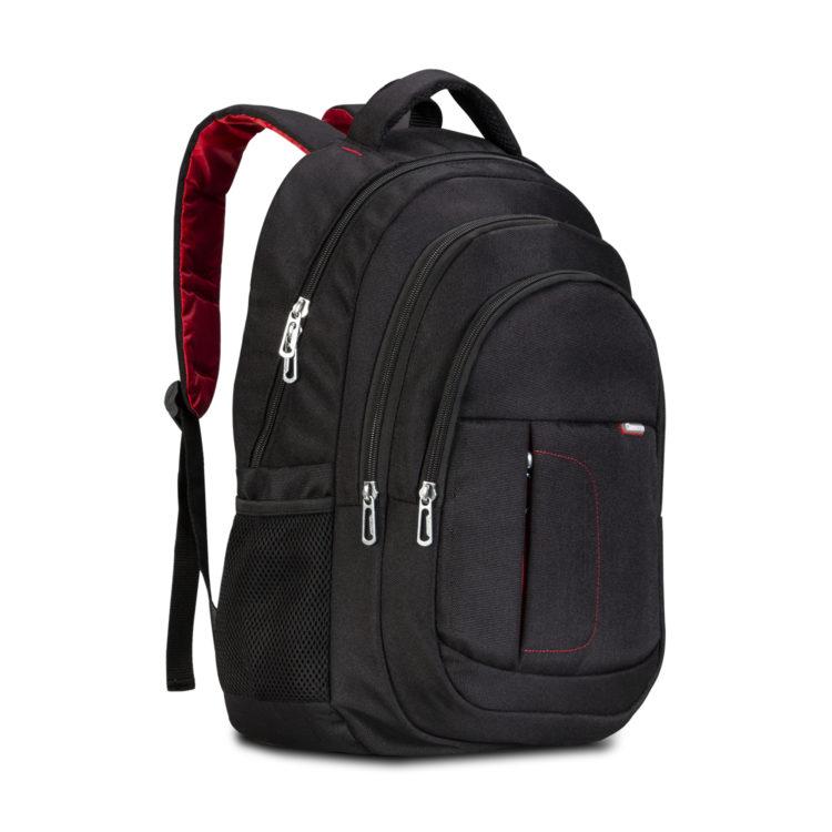 Classone BP-L100 Milano Serisi 15,6 inç Uyumlu Laptop Notebook Sırt Çantası-Siyah